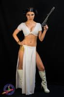 Rose As a Sexy Princess Leia by RocketQueenImaging