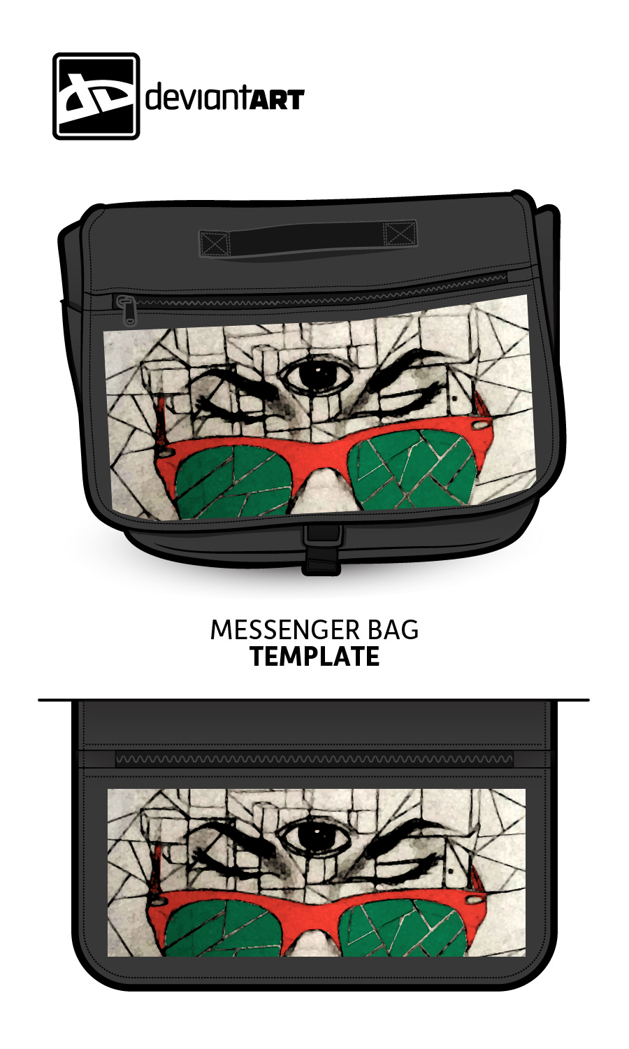 The Third Eye - cubism bag by Evecast