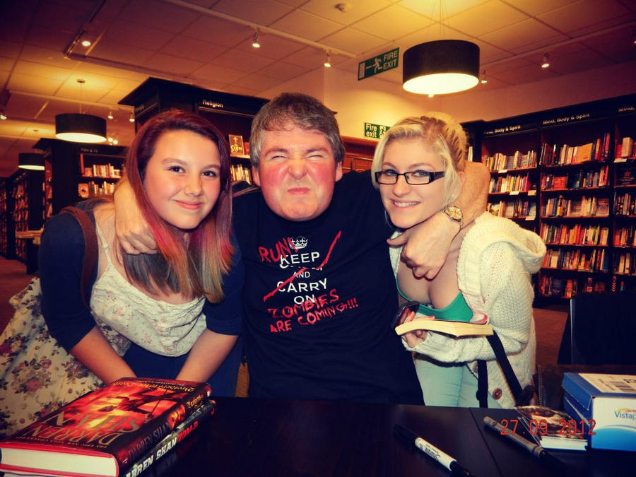 Darren Shan Zom-B signing!!! by jables97