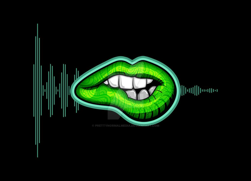 Psychedelic Lips #2 by PrettyNormalMedia