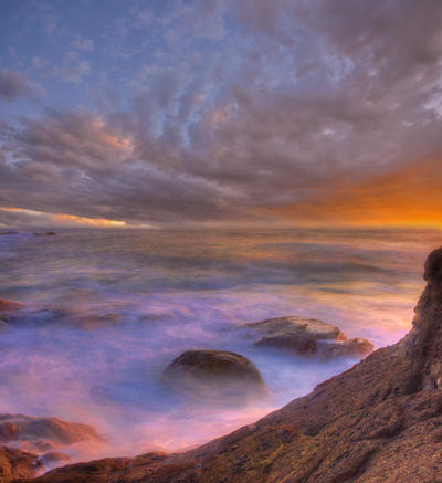 Premade Background - Enchanted Sea by little-spacey