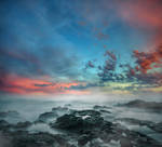 Misty Sea Premade Background