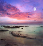 Milky Moon Premade Background