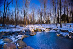 Frozen Blue Winter stock by little-spacey
