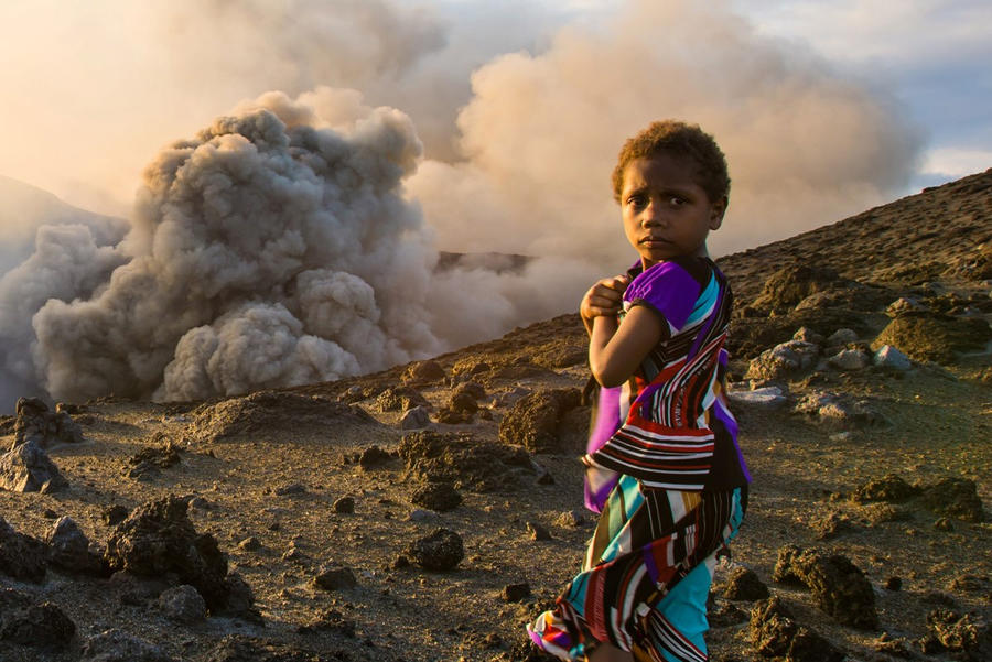 Yasur Volcano Girl by little-spacey
