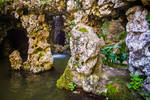 Mermaid's Grotto background stock