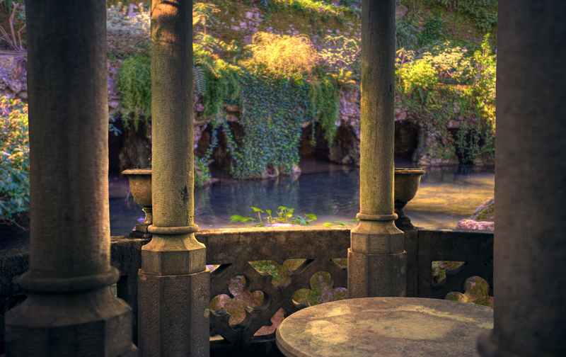 Tolkien Balcony Premade Background by little-spacey