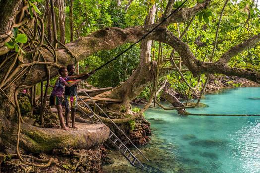 Swing Into the Blue Lagoon