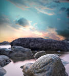 Mermaid's Rock Premade Background