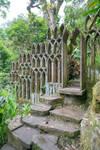 Jungle Castle Window Wall Stock