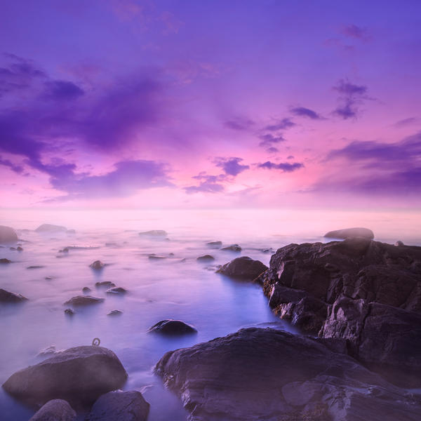 Purple Dawn Premade Background by little-spacey