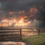 Haunted Sunset Premade Background