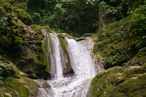 Mexico Jungle Waterfall by little-spacey