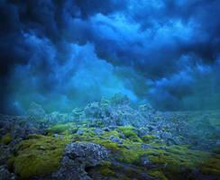 PREMIUM Premade Background - Strange Terrain by little-spacey