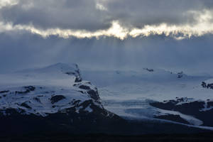 Sunlight on Snowy Mountain Stock by little-spacey