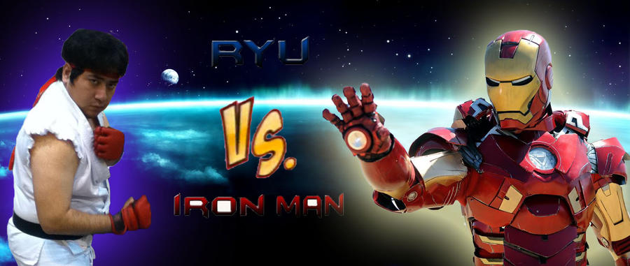 Ryu vs Iron Man title screen by matador-ninjaLover