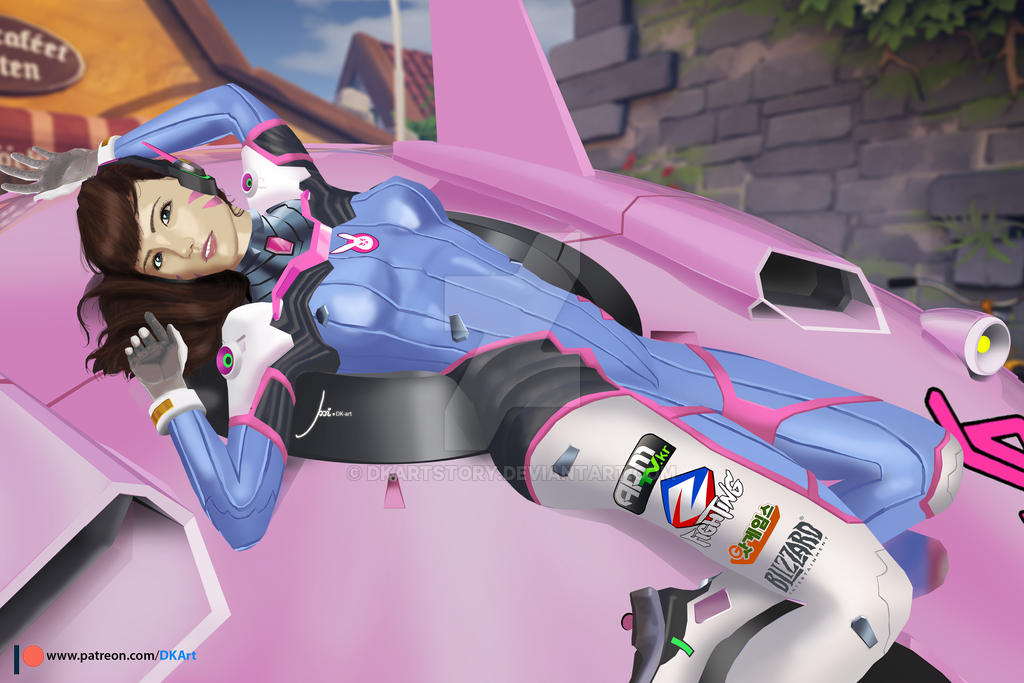 Overwatch D.VA by DKArtStory