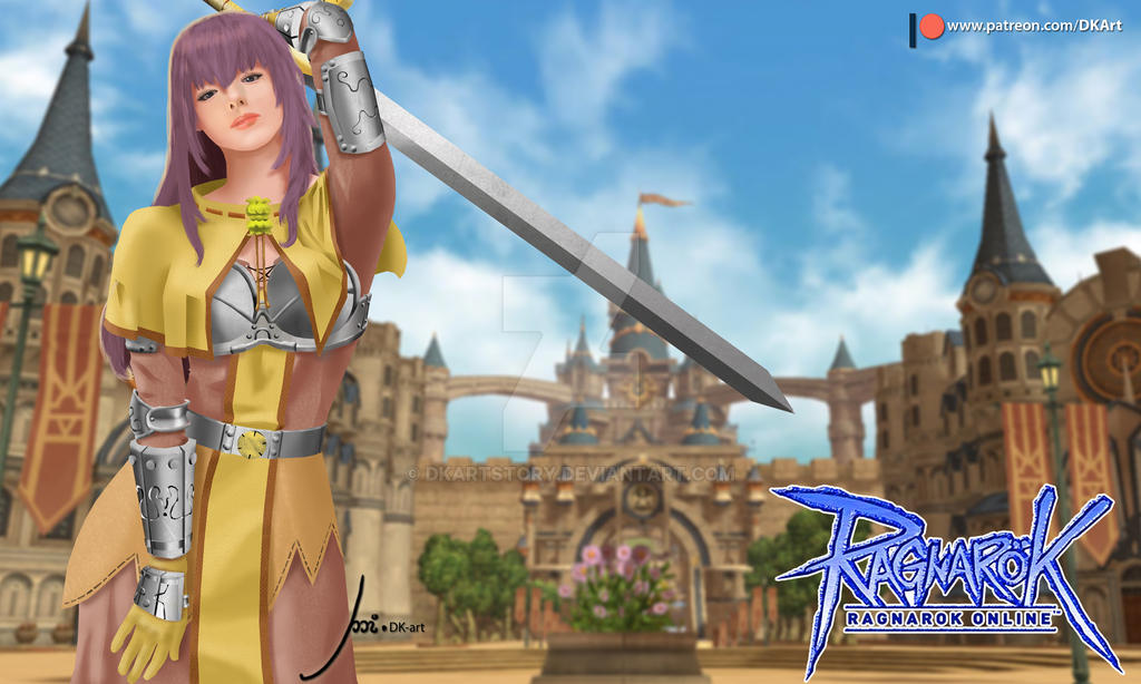 Swordsman Girl 01 by DKArtStory