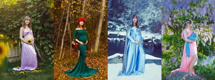 4 Seasons Pregnancy Art nouveau