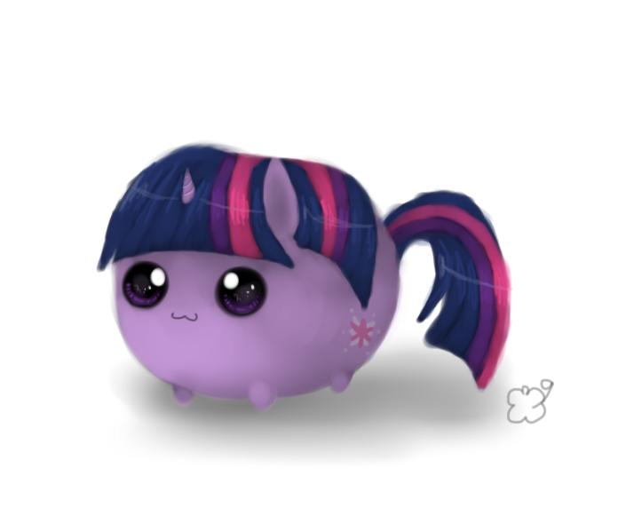 Chubby pony by ManeRibbons