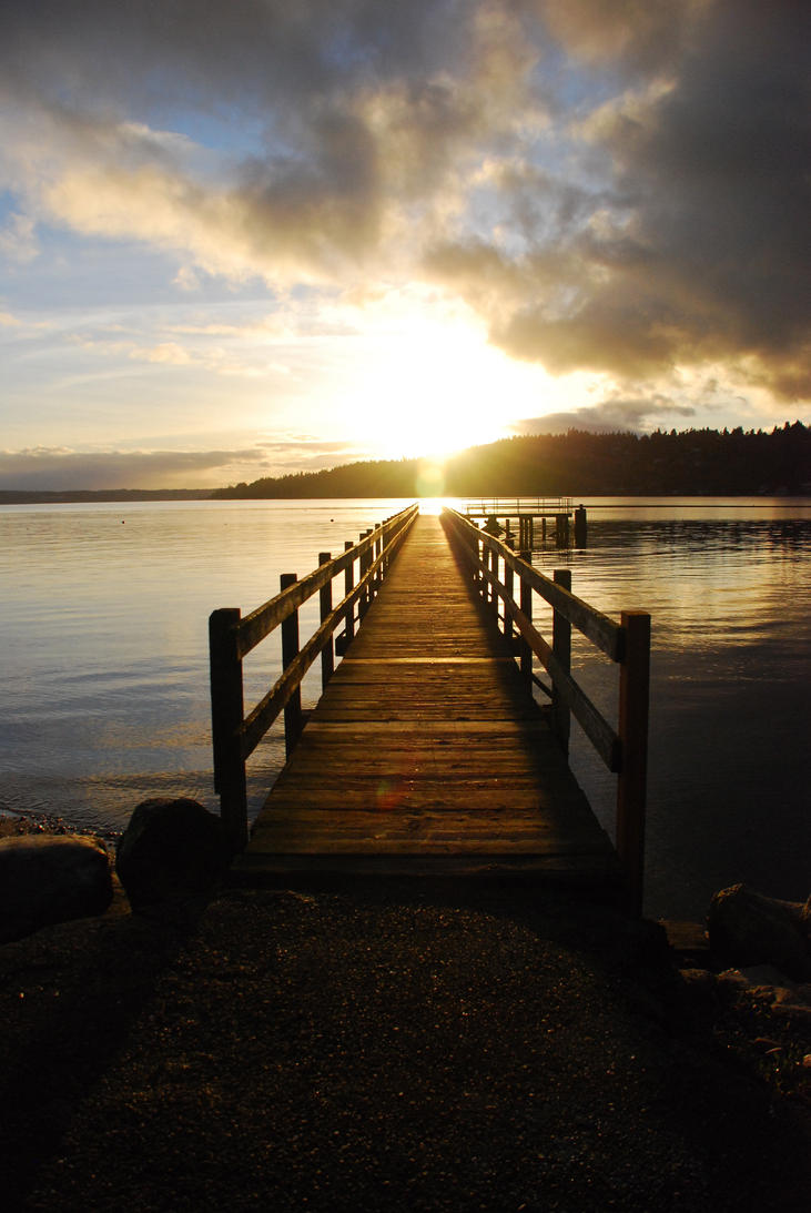 Blustery Sunset by kaminskygirl