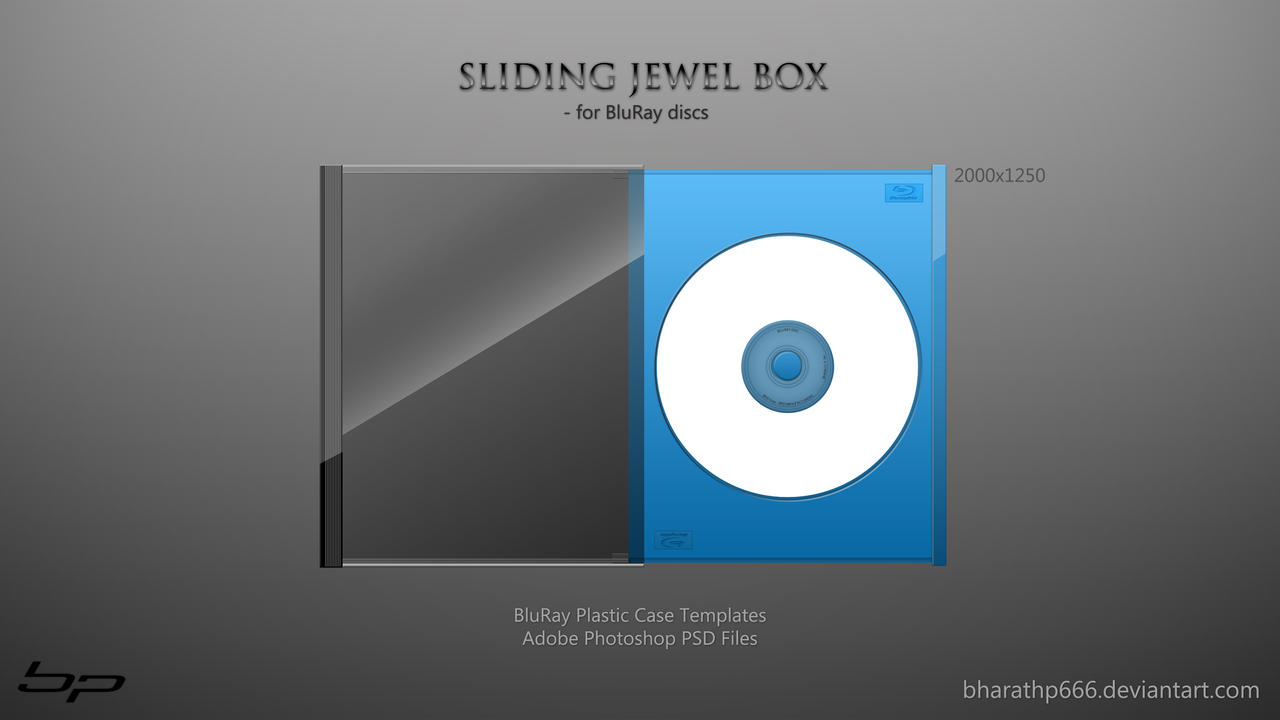 Sliding Jewel Box for BluRay