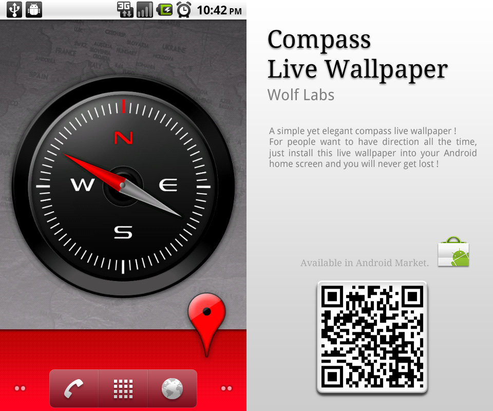 compass live wallpaper app by bharathp666 on deviantart