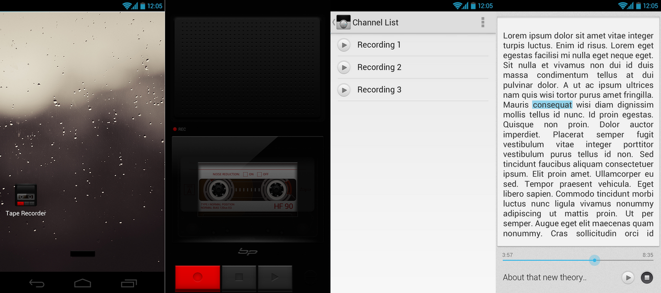 Tape Recorder UI by bharathp666