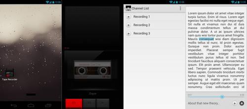 Tape Recorder UI
