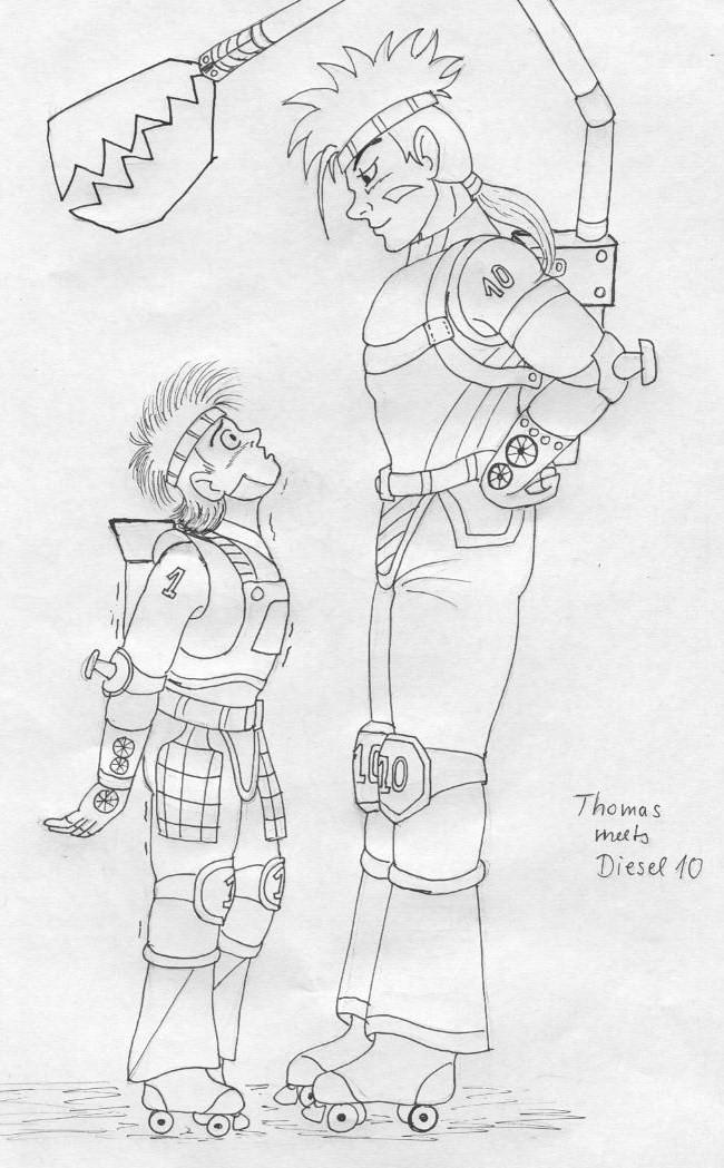 Thomas meets Diesel 10 by ~Princessvegata on deviantART