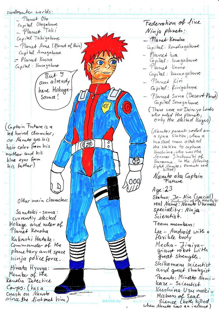 Naruto x Captain Future Crossover by Princessvegata