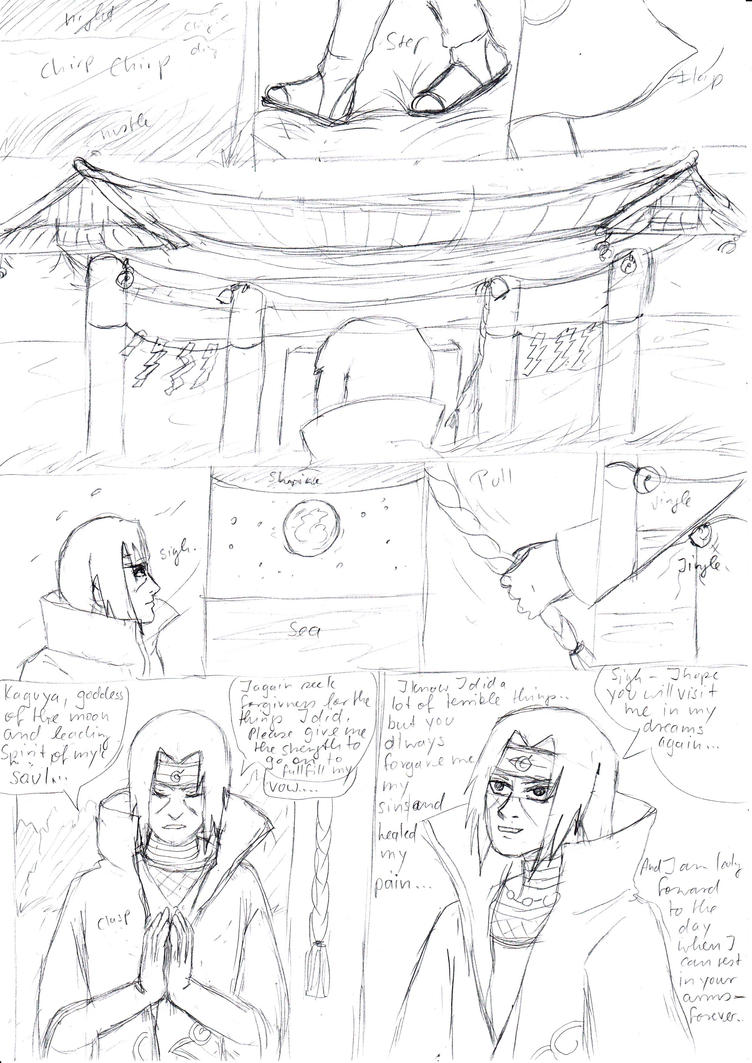 Itachis prayer teaser rough sketch WIP by Princessvegata