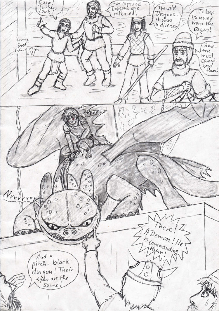 HTTYD Hiccup freeing dragons p 3 by Princessvegata