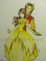 Rumpelstiltskin and Belle by InkMonster13