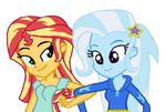 Sunset's Shimmering Girlfriend  Trixie
