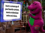 Barney Watches This On Adventure Screen Meme
