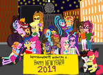 bigpurplemuppet99's Happy New Year MLP EqG by bigpurplemuppet99