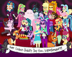 Happy Lesbian Visibility Day MLP EqG by bigpurplemuppet99