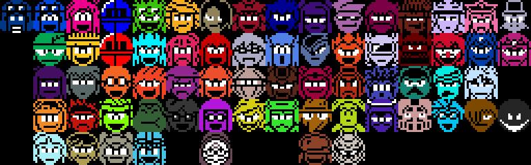 Aozora's Advenutre Pixel Character Icons by Superjustinbros