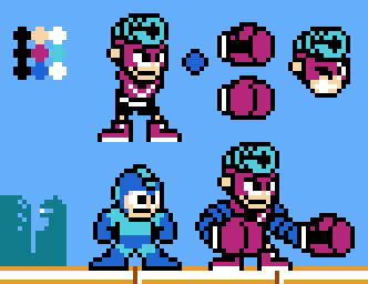 Spring Man (ARMS) Mega Man style by Superjustinbros