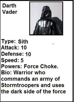 Darth Vader Trading Card