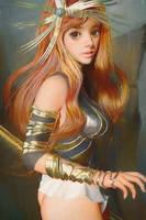 Girl In Armor by cursedapple