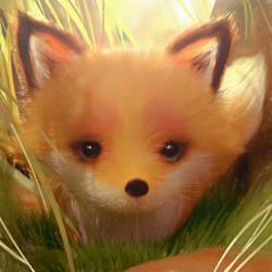 A Little Fox by cursedapple