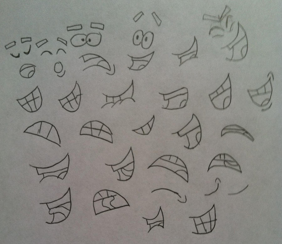 Mouth Sketches by DanLeMan14