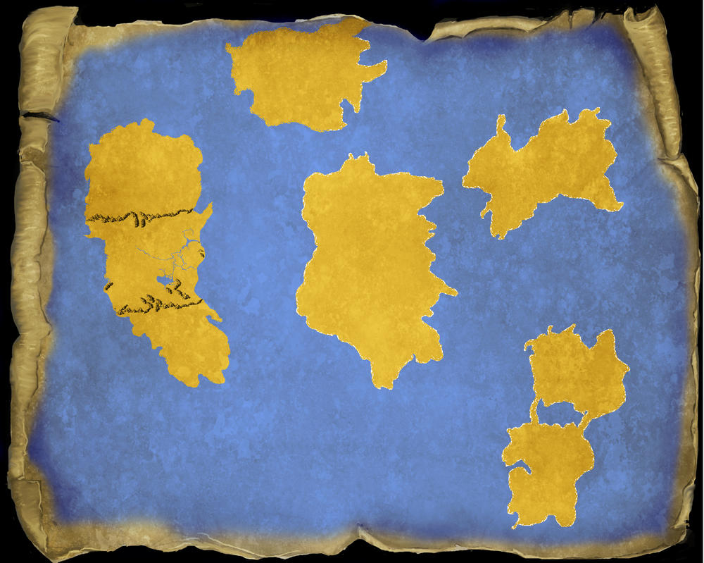 The world map for my roleplay. Half way there by 45dragoons