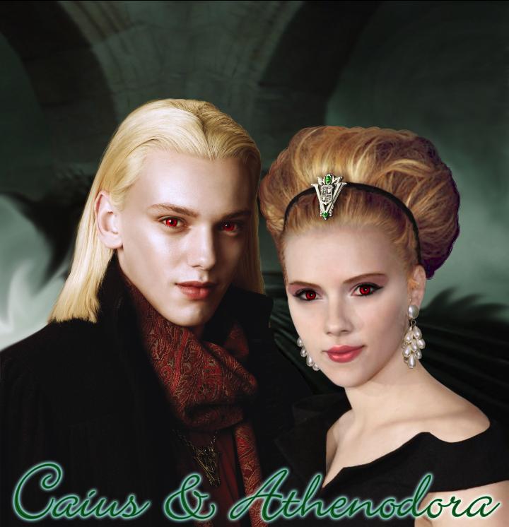 Caius and Athenodora by kemurikat on DeviantArt