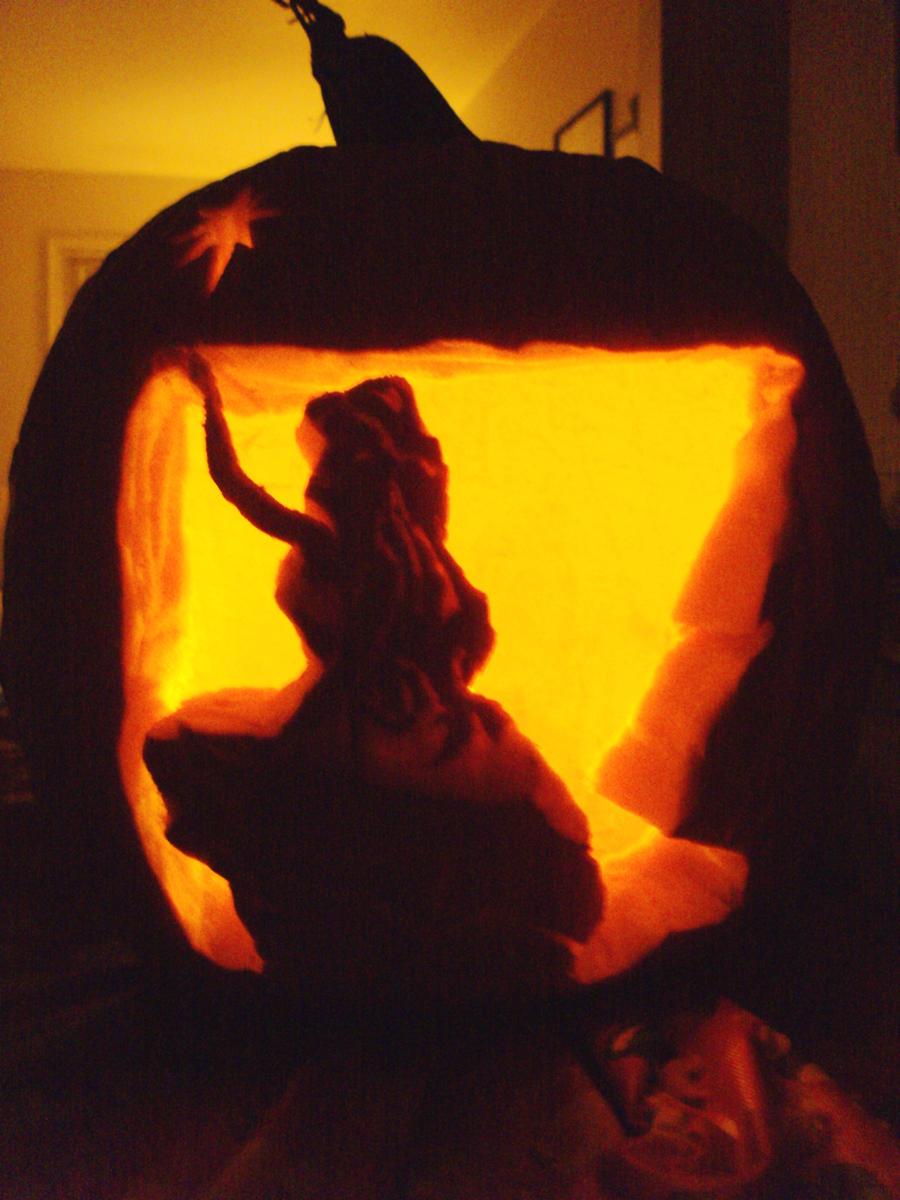 Ariel pumpkin by azazelivylynn on deviantart
