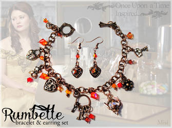 Rumbelle Bracelet and Earring Set by misi