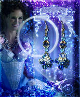 Blue Fairy Inspired Earrings by misi