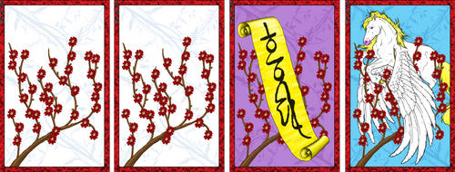 Go Stop Card Game Custom Design - February by Candrence